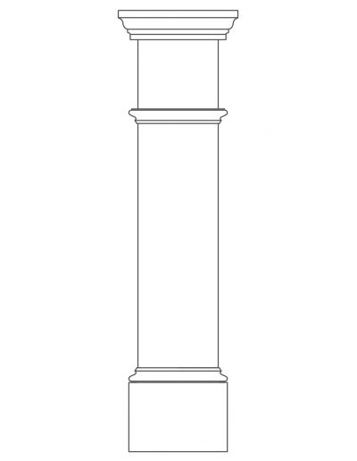 Box Column With Trim Outline